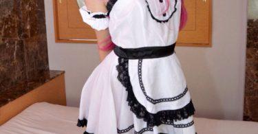 สาวน้อยพริตตี้ในเสื้อผ้าชุดคอสเพลย์สุดยั่วยวน หีสวยบาดจิตตรึงใจ รูปจากหนังโป๊
